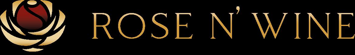 Logotyp marki Rose n Wine - Wieczne Róże w pudełku typu flower box