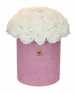 classy box biale roze wieczne rozowy flowerbox rose n wine