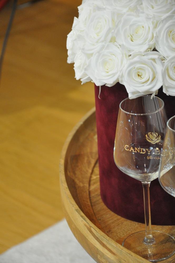 flower box z wiecznych róż rose n' wine