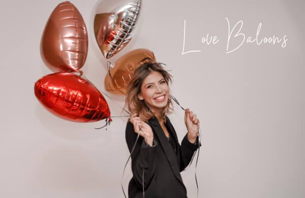 rose n wine love baloons
