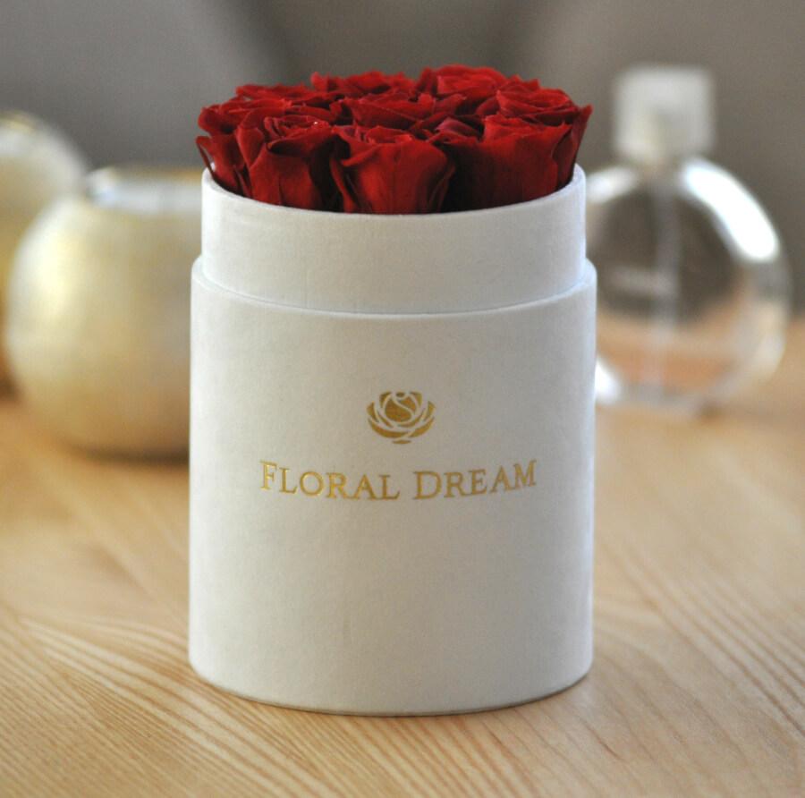 luksusowy flower box wieczne róże
