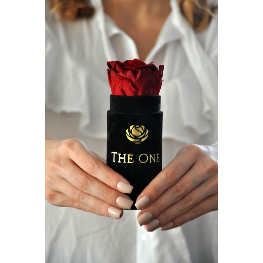 wieczna róża w mini pudełku flower box
