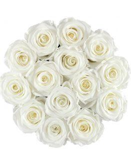 wieczne róże w pudełku L flower box up