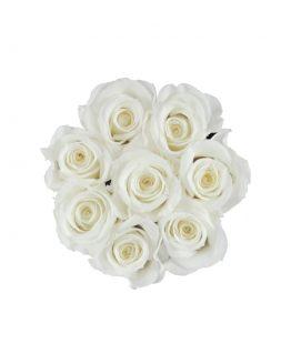 wieczne róze flat lay flower box