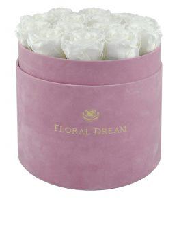 róże w pudełku typu flower box