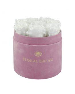 welurowy flower box rose n wine wieczne róże