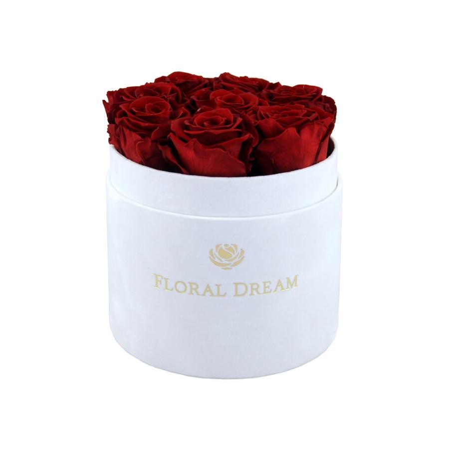 wieczne róże w pudełku flower box