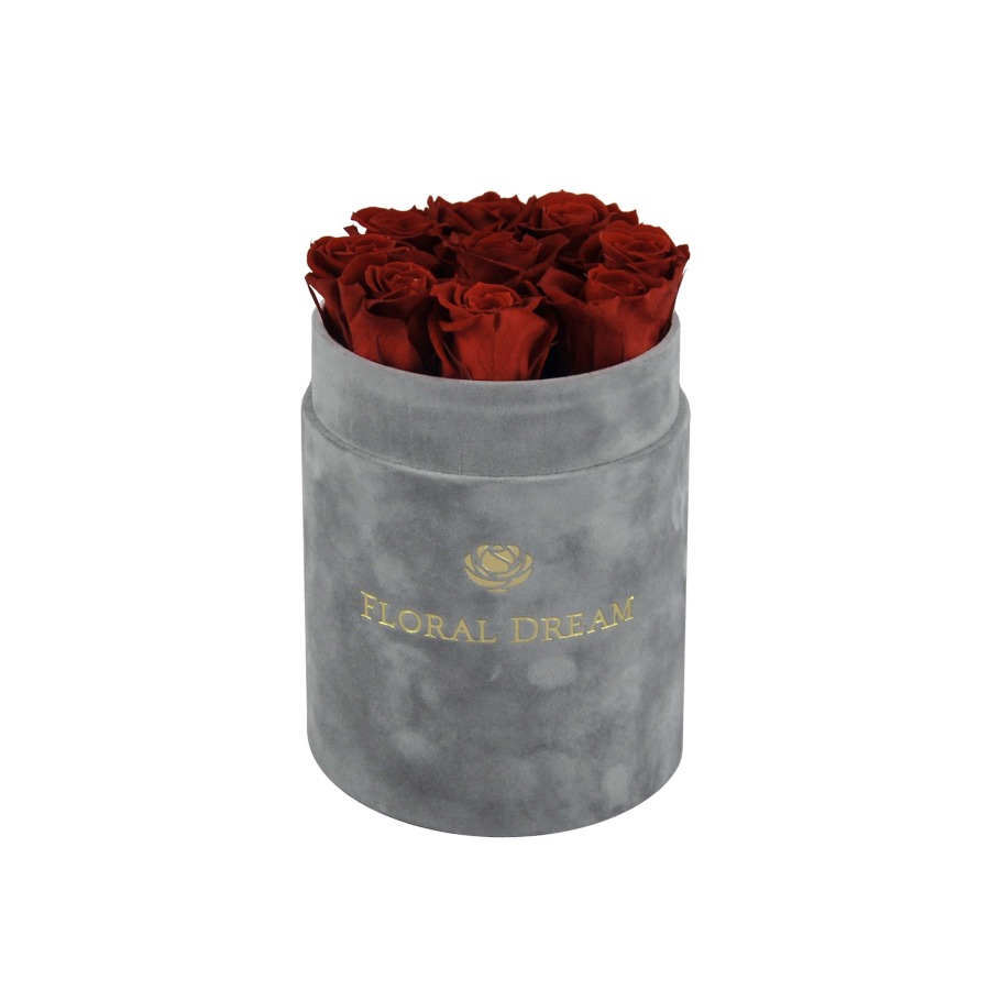 wieczne róże flower box welurowy