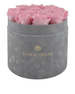 wieczne róże w pudełku duży flower box