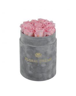 róże wieczne szary flower box