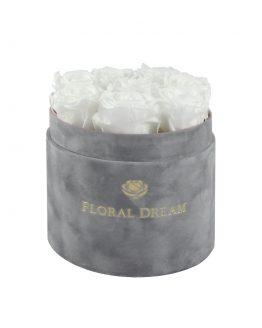 medio flower box rose n wine