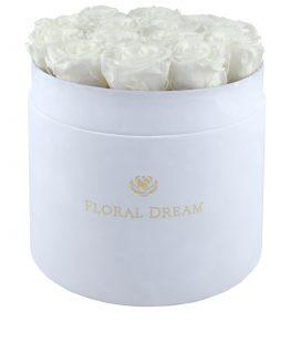 flower box grande biały