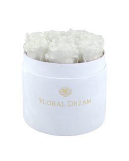 biały flower box medio